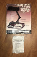SPARTUS DESK LAMP AM FN DIGITAL ALARM CLOCK WORKING CONDITION BOX AND MANUAL