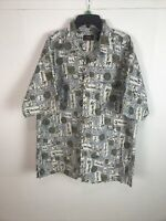 Route 66 Mens Button Up Shirt Size Large Multicolor Paisley Cotton Short Sleeve