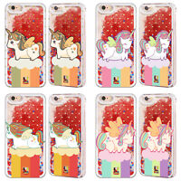 HEAD CASE UNICORN CHUBBY RED LIQUID GLITTER CASE FOR APPLE iPHONE SAMSUNG PHONES
