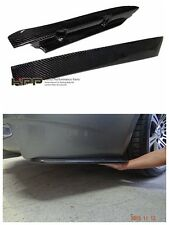 For BMW E92 M3 Carbon Fiber rear bumper Extensions spoiler splitter lip canard