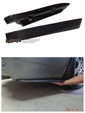 For BMW E92 M3 Carbon Fiber rear bumper Extensions spoiler splitter lip canard
