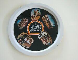 El Caballo Blanco Australia souvenir metal drinks tray dancing horses