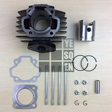 Cylinder Barrel Kit for Yamaha PW50 with Gasket, Piston & Studs. PW PY QT 50