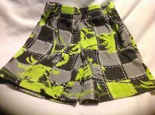 Wonder Kids 3T Pull-up Elastic Waist Shorts Green, Black & Gray