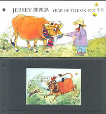 Jersey -Year of the Ox Presentation Pack + Min sheet mnh 1997 - Ox