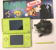 NINTENDO DS LITE GREEN HANDHELD CONSOLE SYSTEM DS LIGHT TESTED WORKING RARE!