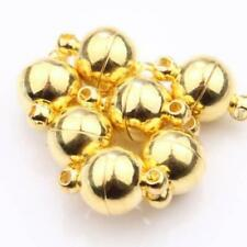 5 X ROUND BALL MAGNETIC CLASPS 11.5mm x 6mm VERY STRONG GOLD PLATED ( AF12 )