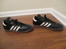 Used Worn Size 12.5 Adidas Samba Shoes Black White Red Soccer