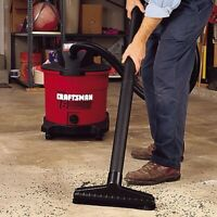 Craftsman 2-1/2 Inch Floor Brush Wet/Dry Vac Attachment for Home Garage Cleaning