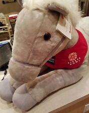 "2013 Wells Fargo Horse Legendary Pony Shamrock 40"" Gray White Plush Stuffed"