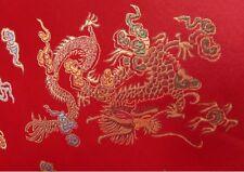 Chinesischer Stoff-Drache und Phoenix rot Meterware Mischgewebe