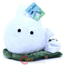 "My Neighbor Totoro Plush Doll  Chibi White Totoro on the Green Leaf  8"" Haning"