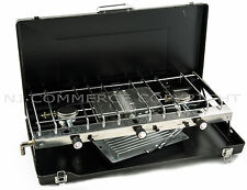 Foldable Gas stove dual 2 burner Grill Portable Camping Outdoor Case FS-430 NEW