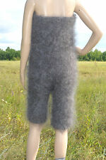 Overalls top and shorts Cashmere Mohair Angora fluff Goat Fur FETISH Soft Sexy
