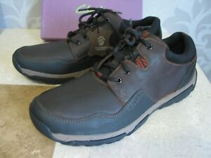 NEW CLARKS WALBECK EDGE WATER PROOF LEATHER SHOES UK SIZE 10.5 H WIDE FIT