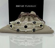 "David Yurman""Confetti"" cuff Bracelet with Onyx Hematite and Diamonds"