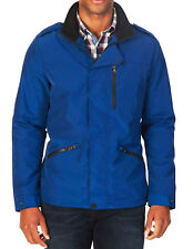 NEW MENS NAUTICA CONCEALED-PLACKET BLUE WATER RESISTANT FIELD JACKET L $198