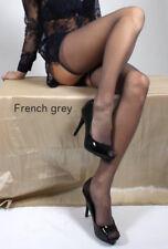 Couture 100 Nylon Velo Elasticizzato Calze da Donna francese Grigio Taglia unica