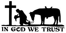 Wholesale Lot of 6 In God We Trust Cowboy Western Horse Decal Bumper Sticker
