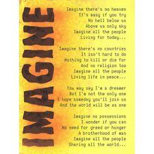 Imagine Music John Lennon Lyrics Motivation Quote Unframed Wall Art Poster