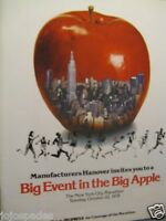 "1978  New York City Marathon Original Print Ad 8.5 x 10.5""-Fold Out 4 page Ad"