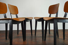 60er Esszimmer Stuhl Sessel Schichtholz Vintage Küchenstuhl Mid-Century 1/3