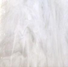 "110 Mosaic Tiles 1/2"" White Marble Wispy Kokomo Opal Stained Glass"