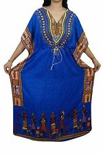 Boho African Women Kaftans Dress Dashiki  Maxi Gown Caftan Dress One Size Plus