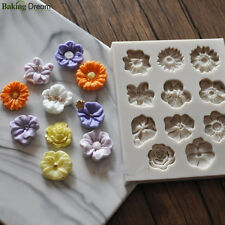 Mini Flower Silicone Fondant Cake Mold DIY Decorating Chocolate Sugarcraft Mould