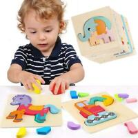 Wooden ABC Alphabet Jigsaw Animal Puzzle kids Toys Children Educational Learning