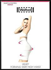 WOLFORD ROCK, Gr. L (44/46), weiß, Velvet Forming Skirt High Waist, NEU + OVP
