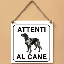 Epagneul bleu de Picardie 2 Attenti al cane Targa cane cartello ceramic tiles