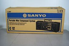 SANYO C 12 Old School Boombox/Bookshelf Japan Made early 80s NOS Open box