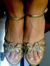 Chanel Gold Sandals Size 7.5- 8 - 8.5