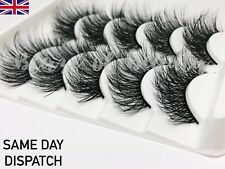 5 Pairs XL Layered Wispies Eyelashes Long 3D Style Fluffy Extra Wispy Volume UK