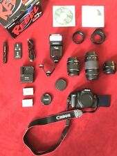 Canon EOS Rebel T3i DSLR Camera Bundle w/ Bag, 3 Lenses And Remote Flash