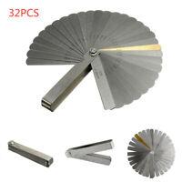 Latest 32 Blade Feeler Filler Gauge Spark Plug Gap Metric/SAE Measuring Tool