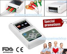 CONTEC 3-lead 24 ore Dynamic ECG / ECG Sistemi Holter analizzare il software PC