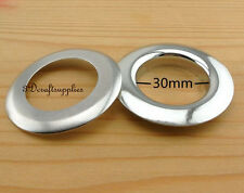 eyelets metal with washer grommets silver round 14 sets 30 mm M47