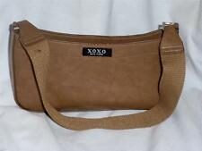 XOXO Dark Camel  Faux Leather Small Baguette Handbag NWOT