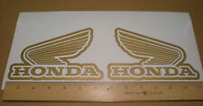 HONDA Gold Wing logo Decal Sticker GOLD, motorcycle, fuel tank, helmet set of 2