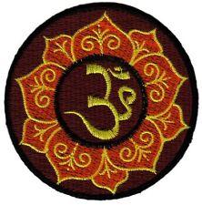 bc21 Om Zeichen Hindu Asien Indien Esoterik Yoga Aufnäher Bügelbild Applikation
