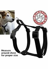 NEW 20in  28in Dog Harness Black Lrg 40  120 lbs Dog By Majestic Pet Products
