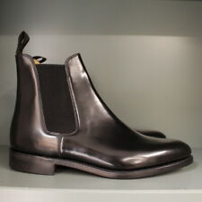 Loake 290B Chelsea Boots 8 ½ F in Black Polished Leather on Leather Sole (133)