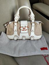 Valentino Garavani Canvas Leather Embellished Bead Logo Hand Bag Satchel Purse