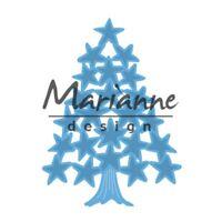 Marianne Creatables Die Cutting Stencil Tiny's Christmas Tree w/ Stars LR0490