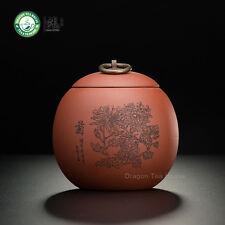Main Traîneau Yixing Zisha argile Chrysanthemum thé Caddy 500ml 16.9 oz