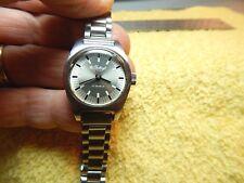 Vtg.Gruen Guildcraft 17 Jewel Stainless Steel Ladies Swiss Movement Windup Watch