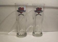 2 HARLEY DAVIDSON Cafe Las Vegas Nevada American Freedom Pilsner Beer Glasses