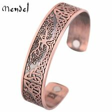MENDEL Celtic Triquetra Trinity Knot Copper Tree of Life Bangle Bracelet Jewelry
